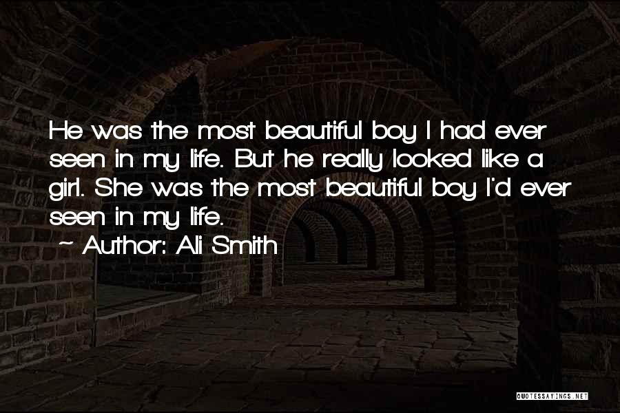 Boy Love Quotes By Ali Smith