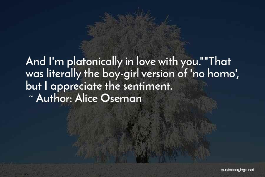 Boy Love Quotes By Alice Oseman
