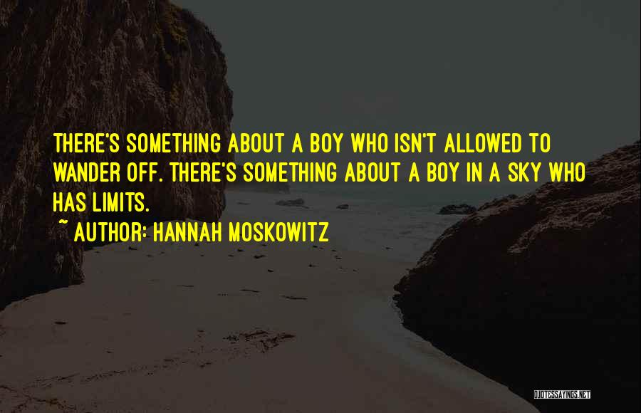 Boy Love Quotes By Hannah Moskowitz