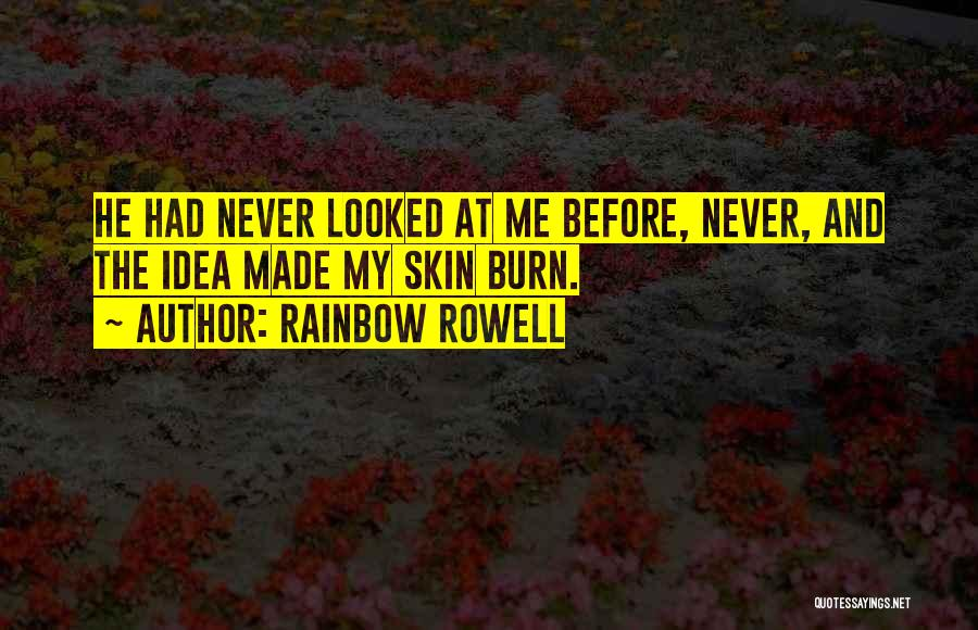 Boy Love Quotes By Rainbow Rowell