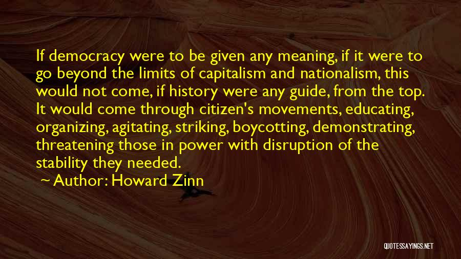 Boycotting Quotes By Howard Zinn