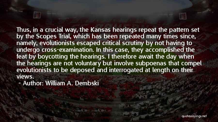Boycotting Quotes By William A. Dembski