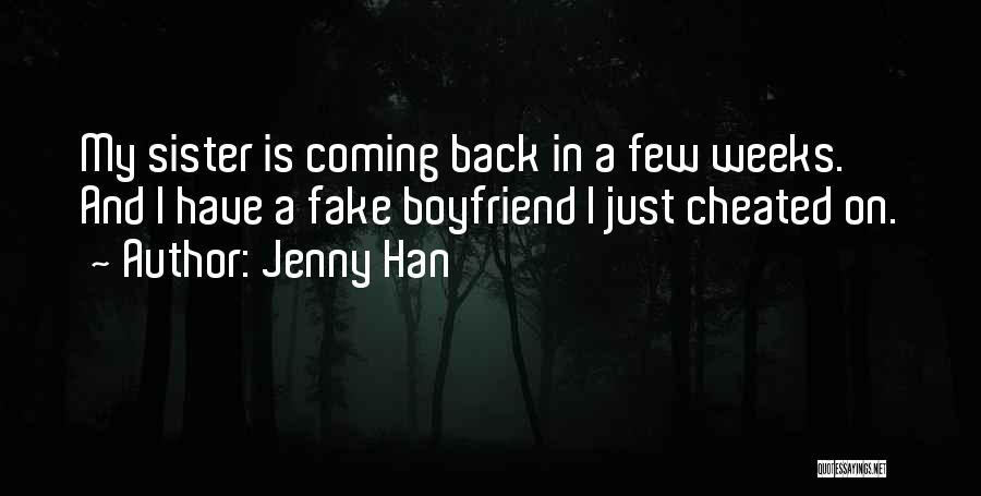 Boyfriend Cheated Quotes By Jenny Han