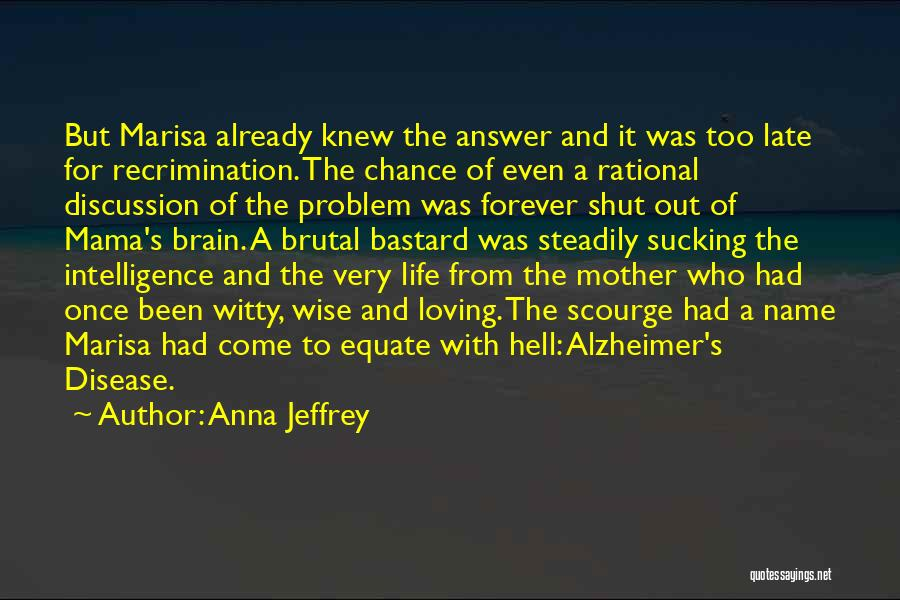 Brain Intelligence Quotes By Anna Jeffrey