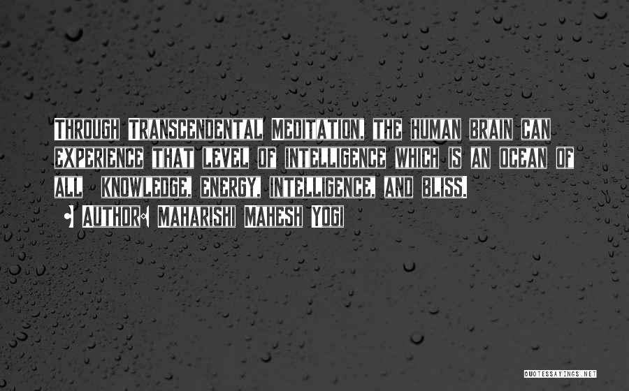 Brain Intelligence Quotes By Maharishi Mahesh Yogi
