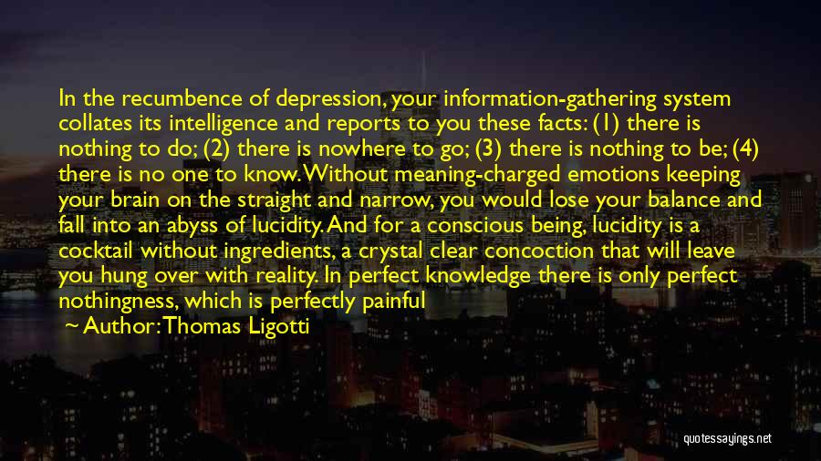 Brain Intelligence Quotes By Thomas Ligotti