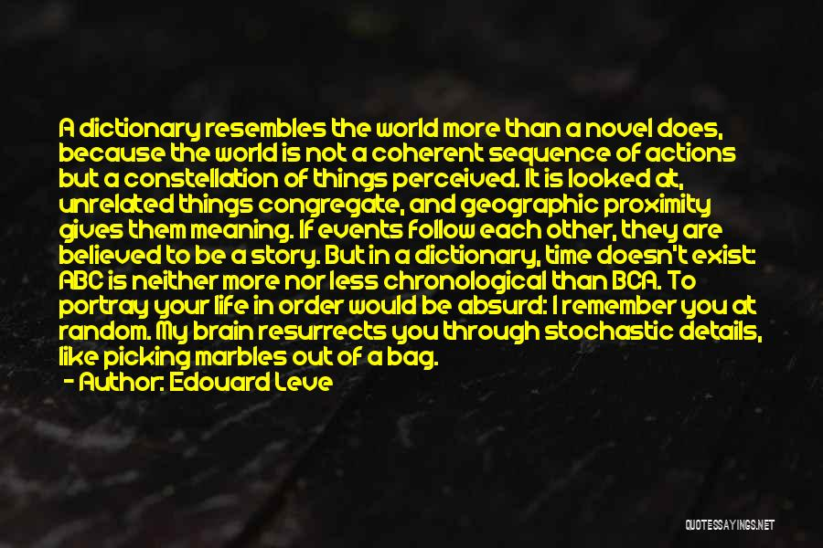 Brain Picking Quotes By Edouard Leve
