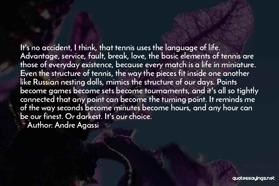 Break Even Point Quotes By Andre Agassi