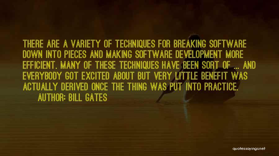 Breaking Into Pieces Quotes By Bill Gates