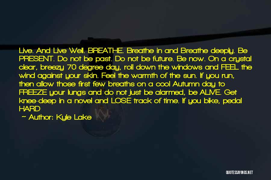 Breezy Quotes By Kyle Lake