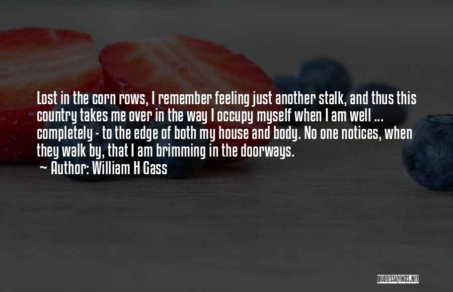 Brimming Quotes By William H Gass