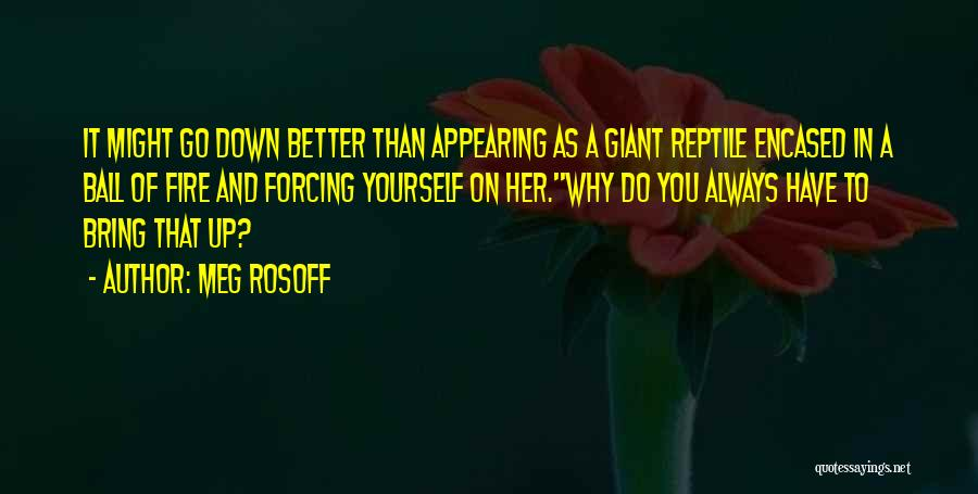 Bring Yourself Down Quotes By Meg Rosoff