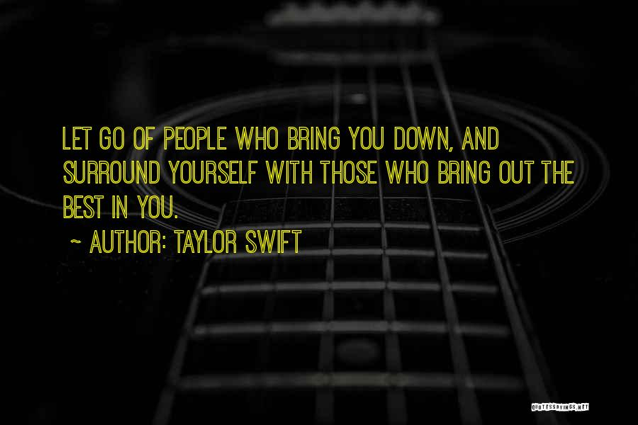 Bring Yourself Down Quotes By Taylor Swift