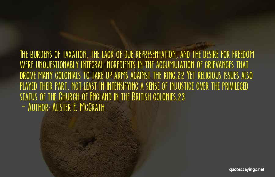 British Taxation Quotes By Alister E. McGrath