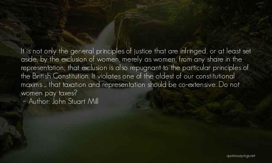 British Taxation Quotes By John Stuart Mill