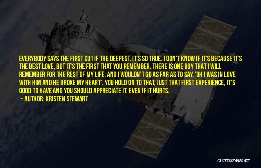 Broke Up But Still Love Each Other Quotes By Kristen Stewart