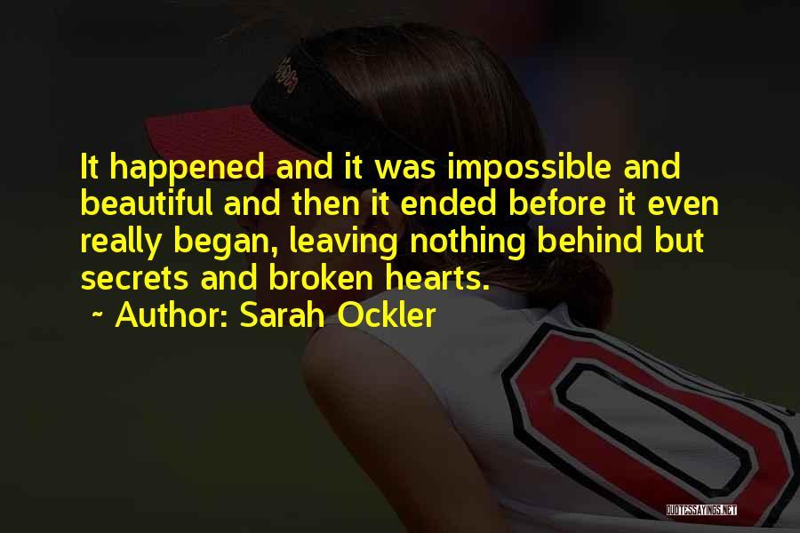 Broken But Beautiful Quotes By Sarah Ockler