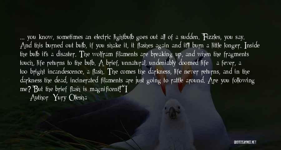 Broken But Beautiful Quotes By Yury Olesha