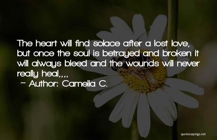 Broken Heart And Lost Love Quotes By Camelia C.