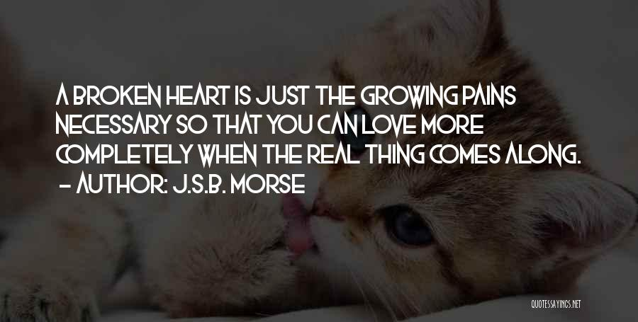 Broken Heart And Lost Love Quotes By J.S.B. Morse