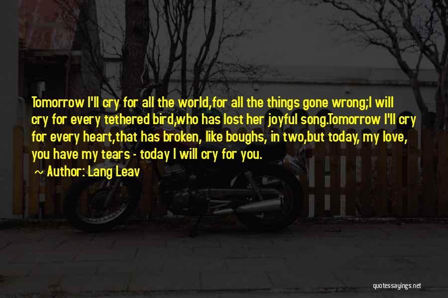 Broken Heart And Lost Love Quotes By Lang Leav