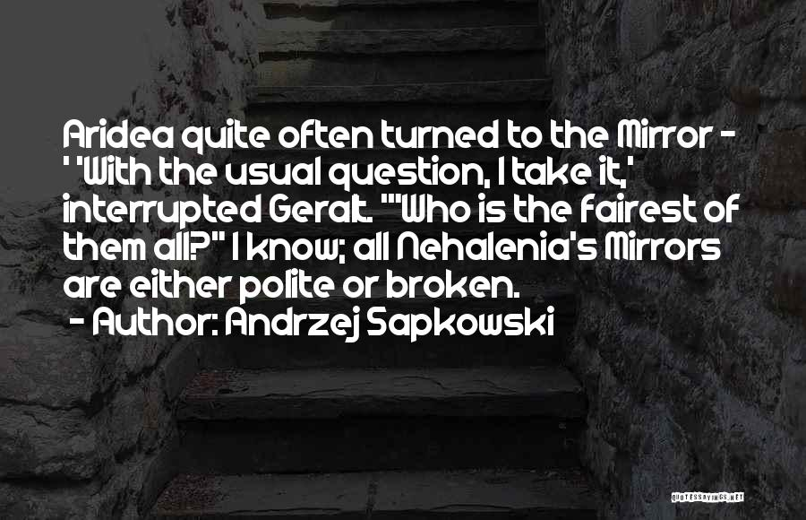 Broken Mirrors Quotes By Andrzej Sapkowski