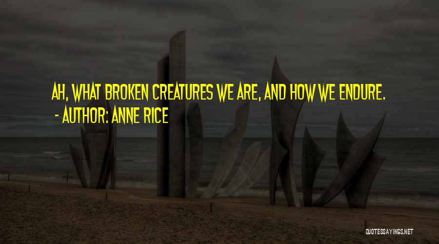 Brokenness Quotes By Anne Rice