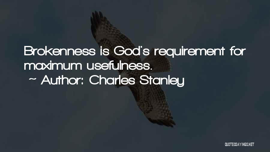 Brokenness Quotes By Charles Stanley