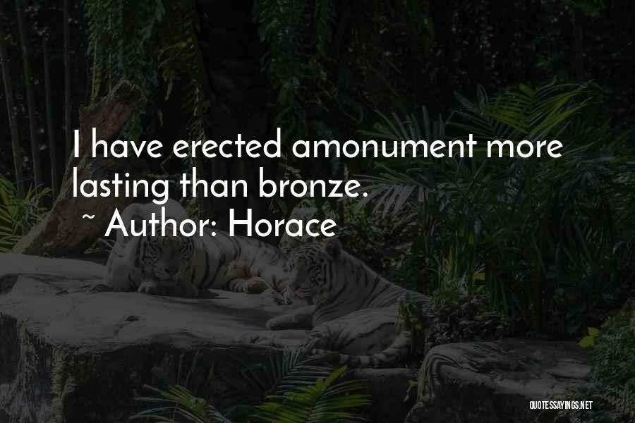 Bronze Quotes By Horace