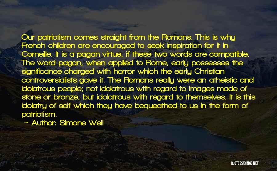 Bronze Quotes By Simone Weil