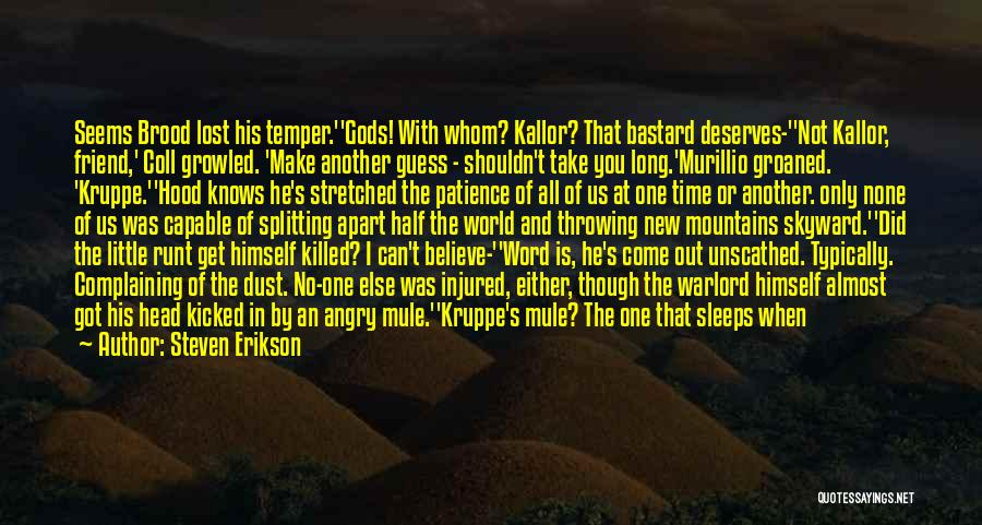 Brood Quotes By Steven Erikson