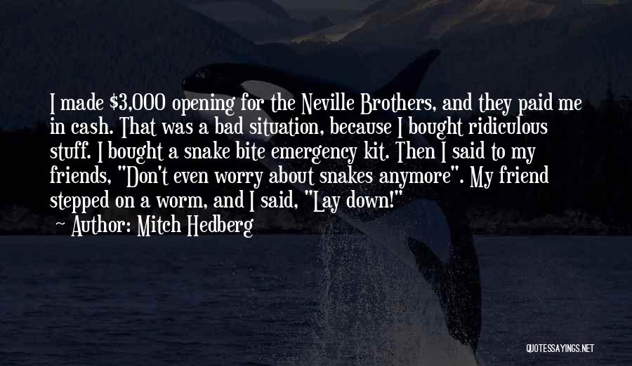 Brother Funny Quotes By Mitch Hedberg