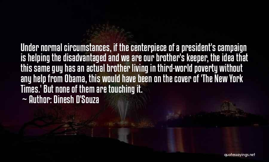 Brother Help Quotes By Dinesh D'Souza