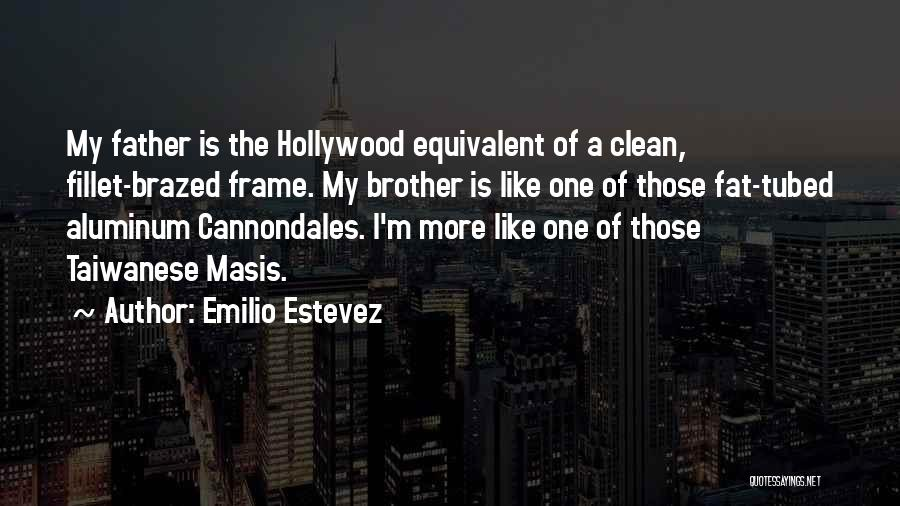 Brother Like Father Quotes By Emilio Estevez