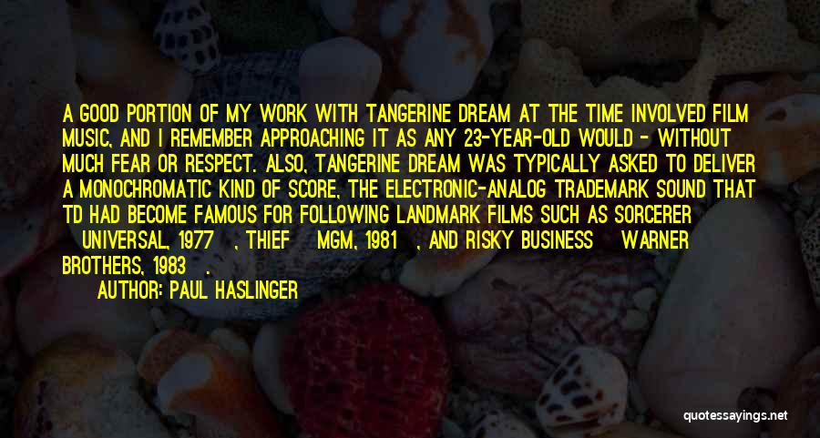 Brothers Famous Quotes By Paul Haslinger