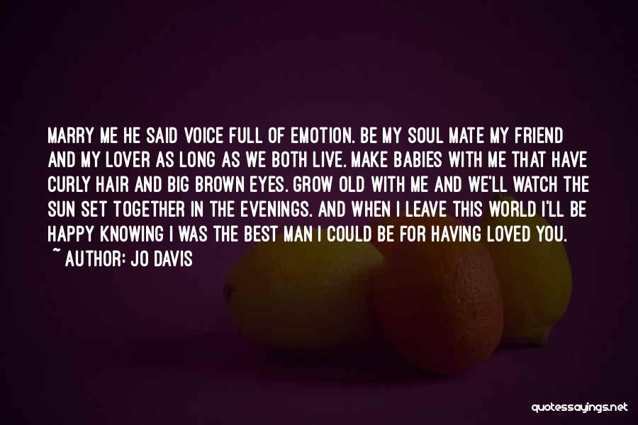 Brown Curly Hair Quotes By Jo Davis