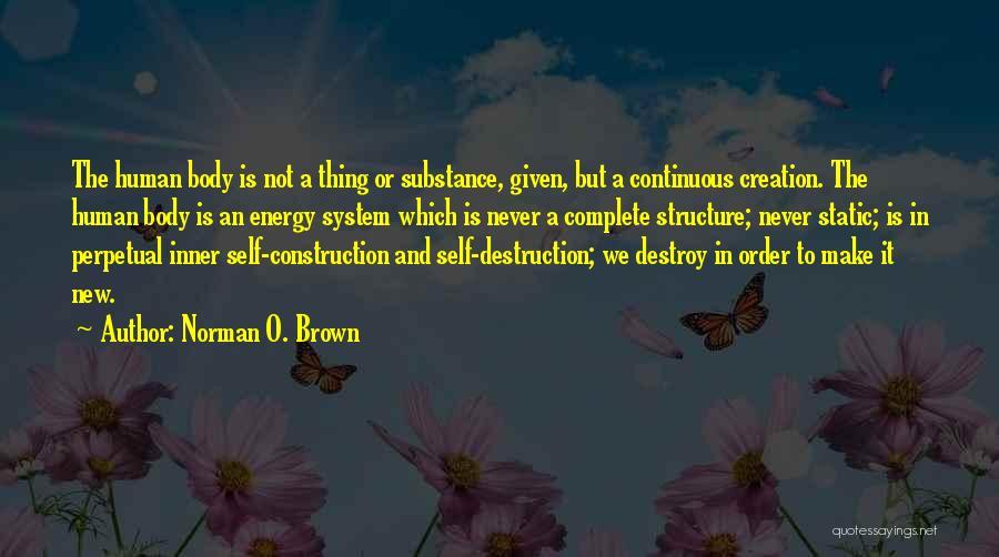 Brown Quotes By Norman O. Brown