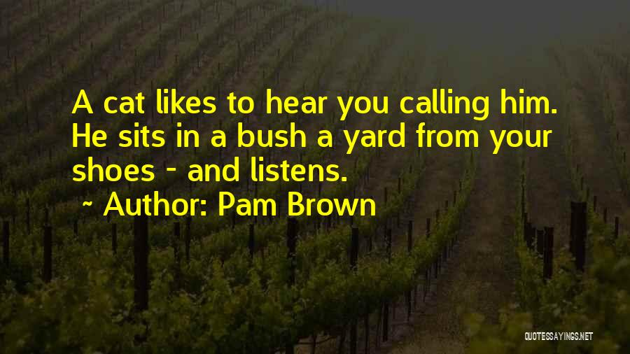 Brown Quotes By Pam Brown