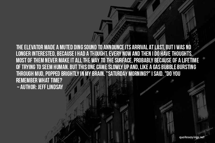 Bubble Bursting Quotes By Jeff Lindsay
