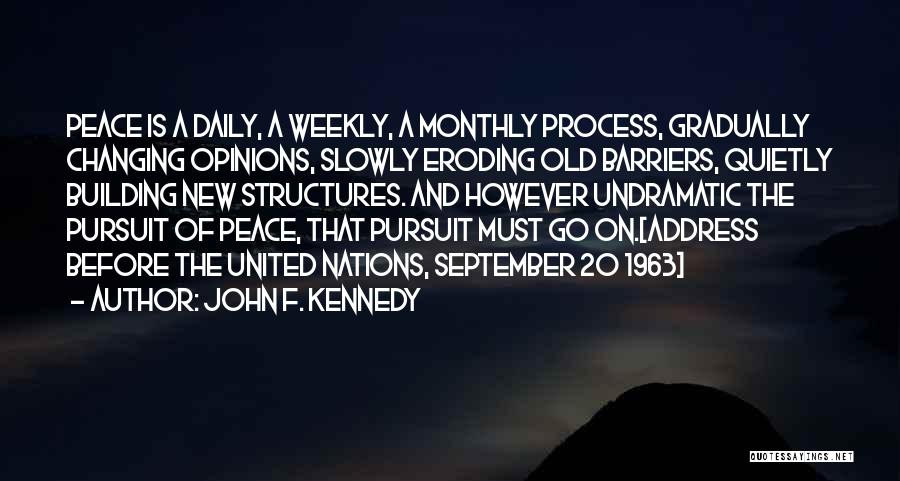 Building Structures Quotes By John F. Kennedy