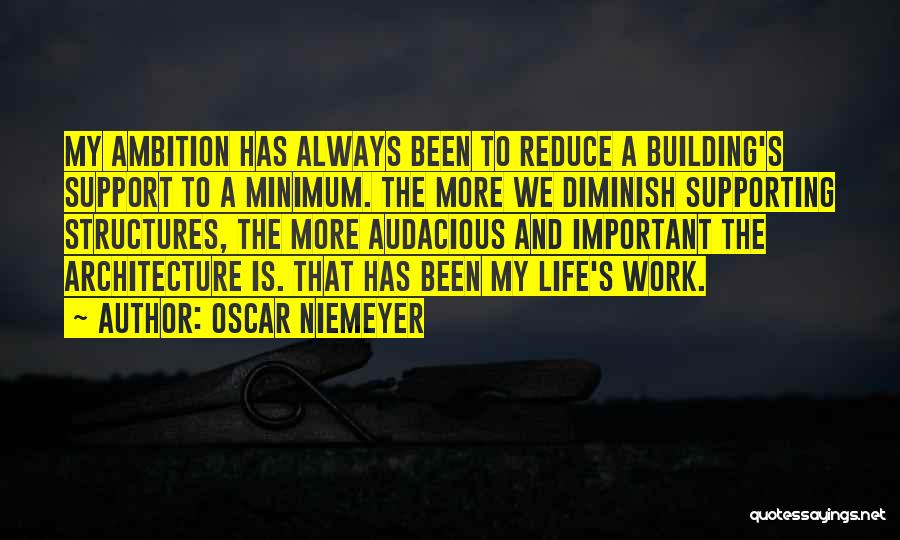 Building Structures Quotes By Oscar Niemeyer