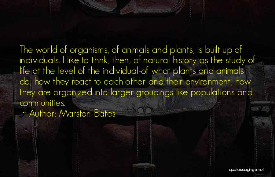 Built Environment Quotes By Marston Bates