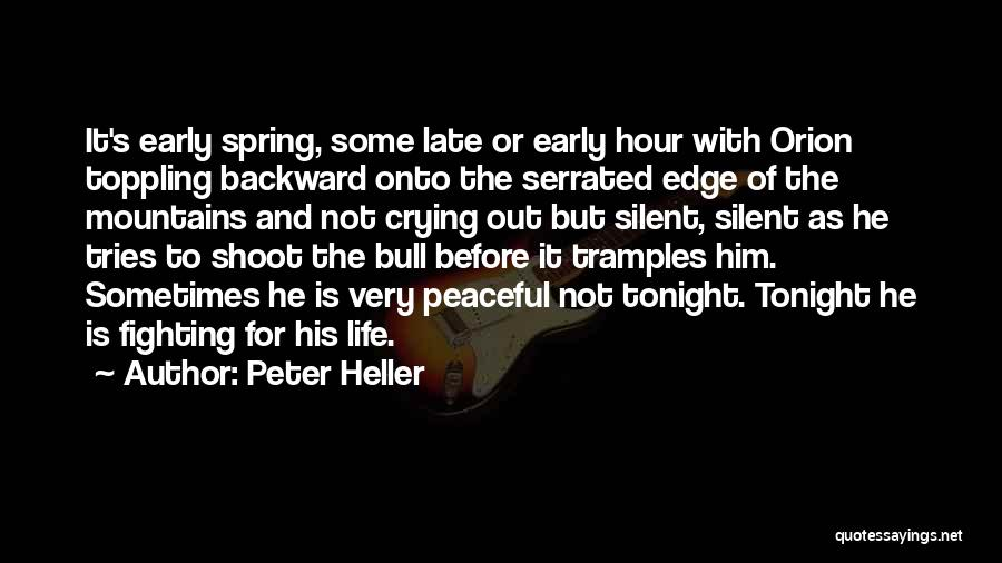 Bull Quotes By Peter Heller