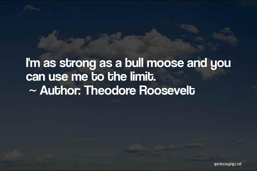 Bull Quotes By Theodore Roosevelt