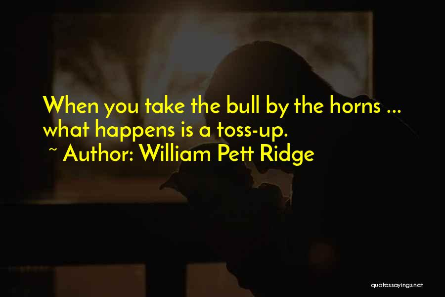 Bull Quotes By William Pett Ridge