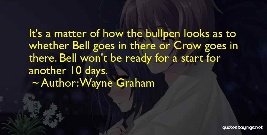 Bullpen Quotes By Wayne Graham