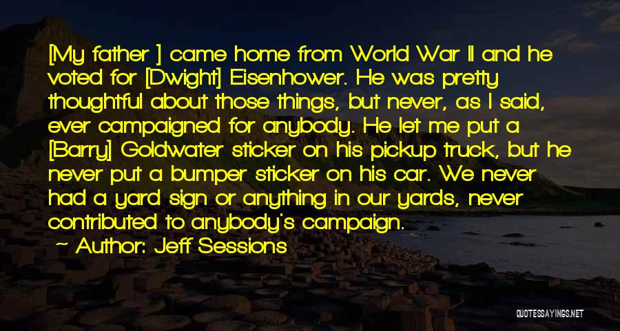Bumper Car Quotes By Jeff Sessions