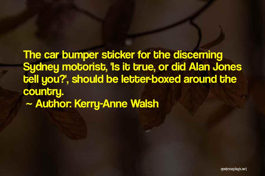 Bumper Car Quotes By Kerry-Anne Walsh