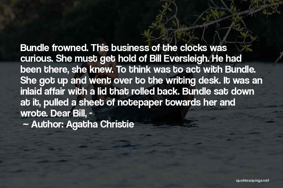 Bundle Up Quotes By Agatha Christie
