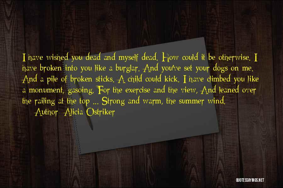 Burglar Quotes By Alicia Ostriker
